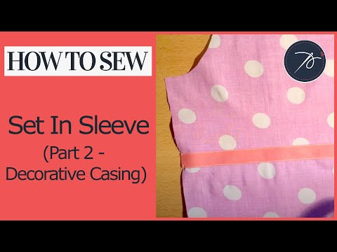 Inserting a set in sleeve   part 2 - creating an elastic casing as a decorative feature