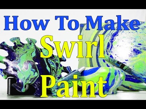 DIY - How To Make A HomeMade Swirl Paint-Water Painting-
