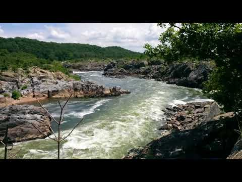 Great Falls Park, VA, view from the visitors center overlook looking downstream (South)