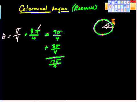 How to Find Coterminal Angles (Theta in Radians). Precalculus
