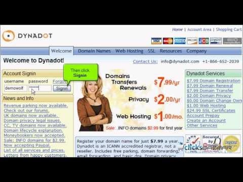 Transfering from DynaDot