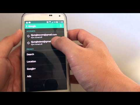 Samsung Galaxy S5: How to Remove Old Google Account