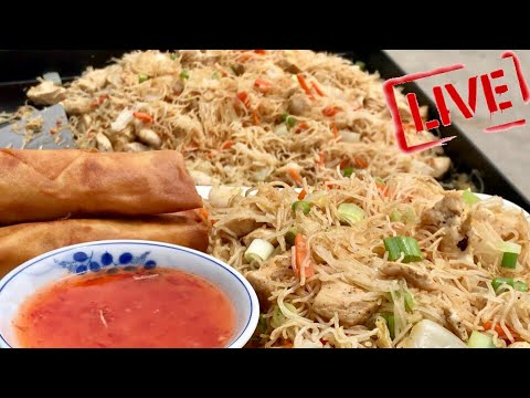 BLACKSTONE CHICKEN PANCIT RECIPE AND BEEF LUMPIAS FOR A FLAT TOP GRIDDLE