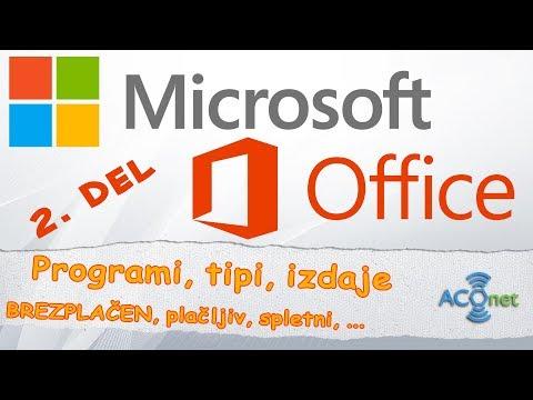 MICROSOFT OFFICE: Programi in izdaje (brezplačni in plačljivi)   2. od treh delov
