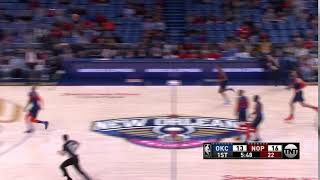 1st Quarter, One Box Video: New Orleans Pelicans vs. Oklahoma City Thunder