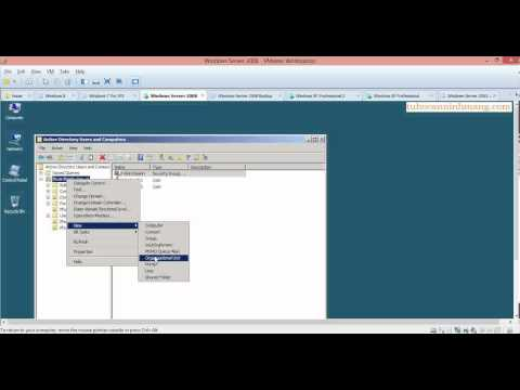 Step by Step: Create OU - Group - User in Windows Server 2008