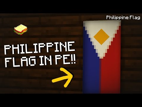 Minecraft, MCPE | How to make a Philippine Flag