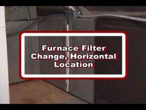 Furnace Filter Change-Horizontal Furnace