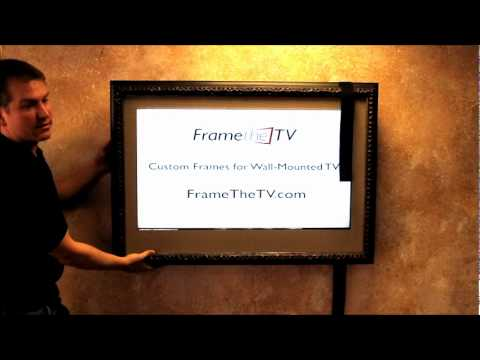 Wall Mounted TV Frame Installation Video - FrameTheTV.com