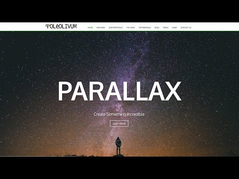 How To Make A Parallax Wordpress Website 2017 -NEW!!