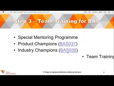 BAS Introduction Training Modules   11 Steps to Implement BAS   Webinar