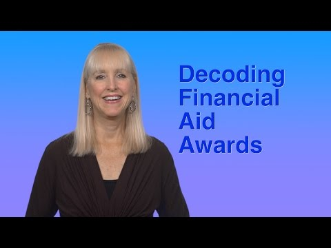 Decoding Financial Aid Award Letters