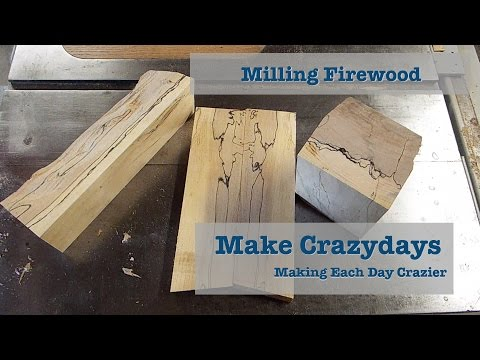 Milling Spalted Firewood