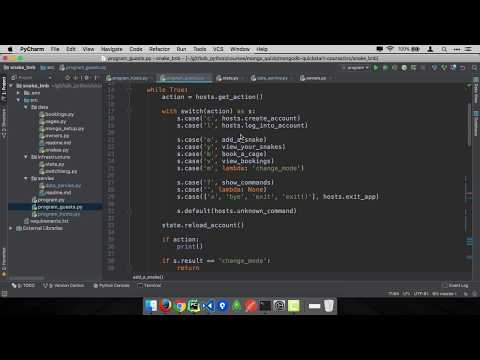 MongoDB and Python Quickstart (12/21): Demo: Managing your snakes as a guest