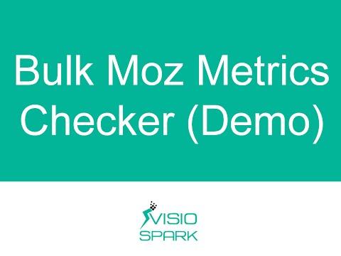 Bulk Moz Metrics DA PA Checker (Desktop Tool)