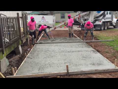 Best How To Install A Concrete Driveway--iConcrete Construction Breast Cancer Awareness