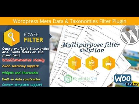 WordPress Meta Data Filter & Taxonomies Filter - introduction to the plugin settings