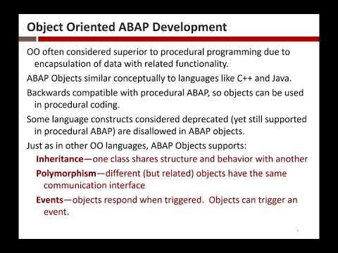 ABAP Objects 3/28/2018