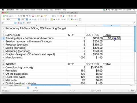 How to use formulas in a spreadsheet