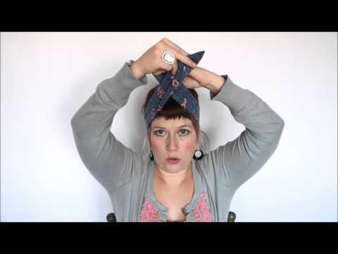 Maple And Oak Tutorials: How to tie a Rockabilly Headband