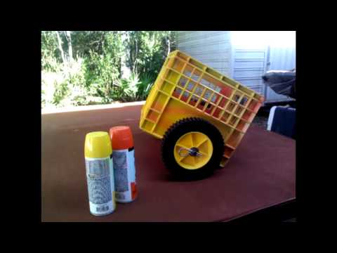 Homemade Milk Crate Kayak Cart