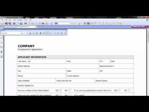 How to fill out PDF forms with foxit reader (Typewriter tool)