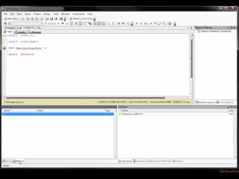 Debugging in SSMS 2008 and 2012 Part I