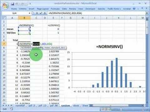 FRM: Using Excel to simulate standard random normal variable