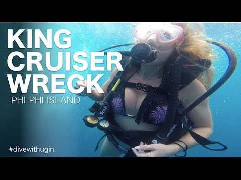 Scuba diving the King Kruiser Wreck - Phi Phi Island - diving documentary