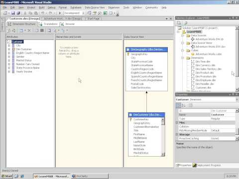 SSAS 107   Creating Dimensions