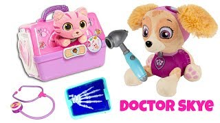 Paw Patrol Skye is a Doctor Help Ariel's Cat Kitty