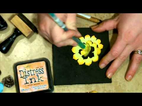 Tim Holtz Pinecone Die  - 4 flowers Tutorial
