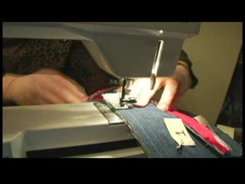 How to Make a Rag Denim Quilt : Sewing on Binding for a Rag Denim Quilt