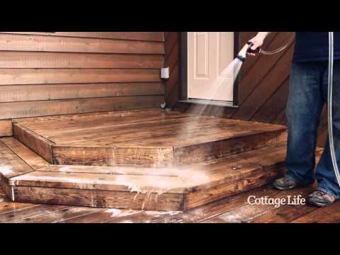 Prepping and Staining Your Cottage Deck