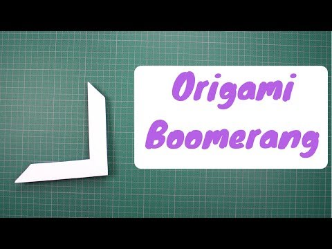 How to make Easy Origami Boomerang that's come back - Is Easy to make - Great Ninja Warrior Weapon