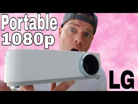 Best 1080p Portable Projector 2018   LG PF50KA Minibeam Review