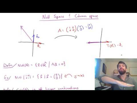 Null Space and Column Space of a Matrix
