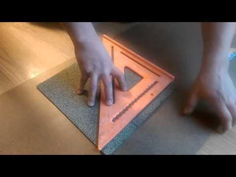 Cork tiles installation