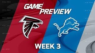 Atlanta Falcons vs. Detroit Lions | Week 3 Game Preview | NFL Playbook
