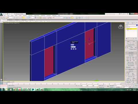 How to create a wall with doorways in 3dsMax, add a collision model and export it.
