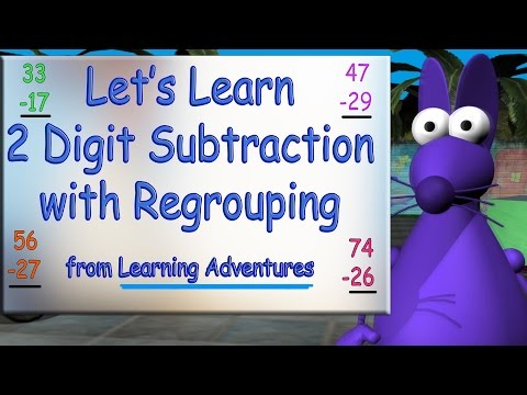 2 Digit Subtraction with Regrouping by Learning Adventures