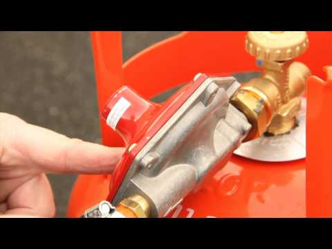 Calor Tips - How to fit a propane gas regulator with a POL Valve (NI)