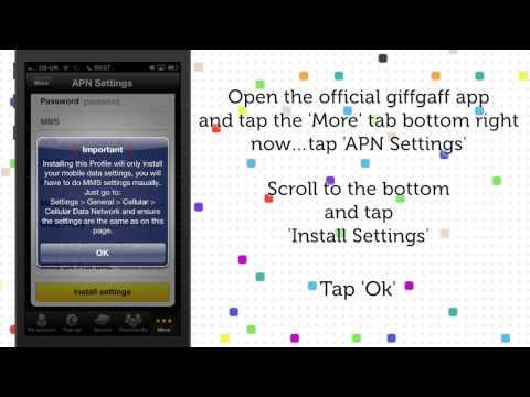 iPhone giffgaff APN Settings Updated    2013