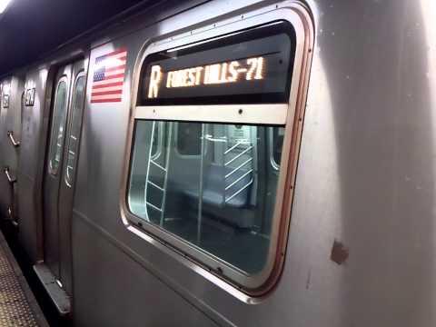 Queens/Brooklyn-bound R160A R Trains@8th Street-NYU