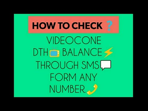 How to check videocone DTH balance through SMS form any number