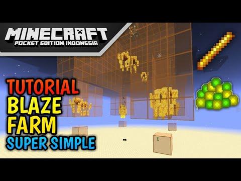 Cara Membuat Blaze Farm di Minecraft PE! (Sangat Simple!)