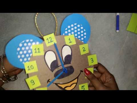 How To Make Wall Clock  From Cardboard by tc