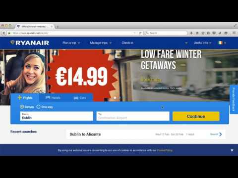 How to Book a Ryanair Flight – Part 1 – Language settings and finding your flight
