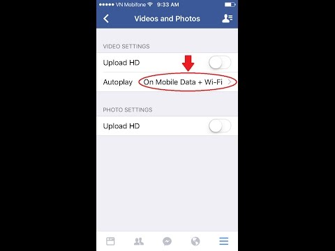 Facebook - How to Save Data by Stop Videos from Auto-Playing