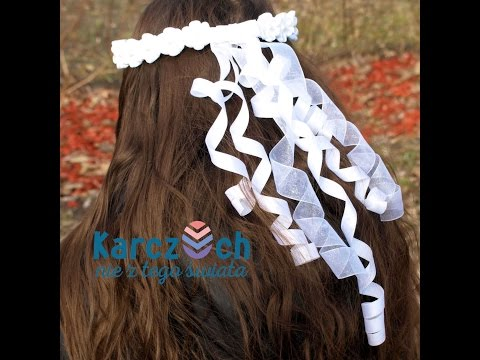 How to make curls using a ribbon